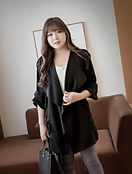 Mancha / Outono windbreaker jaqueta hitz 200 quilos de gordura irmã versão coreana 7 pontos casaco de manga