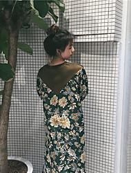 petite piqûre de fleurs fraîches creux de la vague vrai coup robe robe