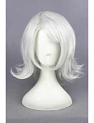 Short Curly Silver White Tokyo Ghoul-JUZO SUZUYA / REI Synthetic 16inch Anime Cosplay Wigs CS-195E