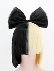 nouvelle mise à jour de la mode perruque de style sia perruque courte respirante couleur or noir droite mélange perruques de fibres
