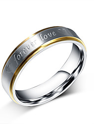 Ring Heart Circle Steel Round Silver Jewelry For Daily 1pc