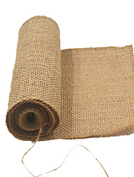 W15cm L240cm Mariage Decoration De Jute Table Runner Vintage Burlap Fabric Country Wedding Cloth Sashes Burlap Hessian Supply
