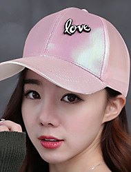 Letters Love Baseball Cap Bright Cloth Sun Hats Snapback Hat Sunscreen Splicing Mesh