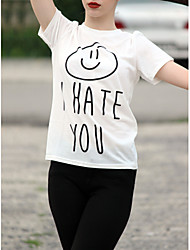 2017 europe odeio você letras impresso em torno do pescoço manga curta t-shirt