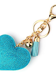 Key Chain Heart-Shaped Key Chain Red Pink Navy Gold Metal