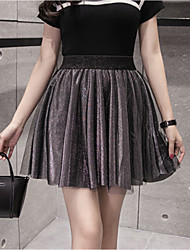 Spring and summer high waist skirt skirts skirt big yards female student was thin pleated skirt tutu anti emptied culottes