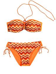 Bikinis Aux femmes Push Up Licou Acrylique Spandex