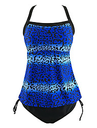 Women's  Halter Polka Dot  Sexy High Wasit Lace Up Swinsuits