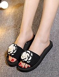 2017 summer new fashion flowers non-slip bottom cool slippers word drag shoes large favorably