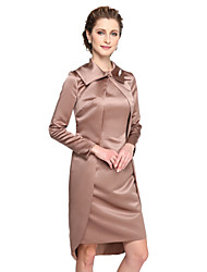 Women's Wrap Coats/Jackets Satin Wedding Button