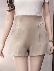 signer au printemps # 5330 2017 nouvelles femmes taille haute un short mot pantalon large jambe leggings usure extérieure décontractée