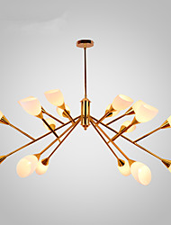 Nordic Simple Atmospheric Pastoral Chandelier Creative Personality Dining Room Villa Hotel Lobby Living Room Chandelier Lamp