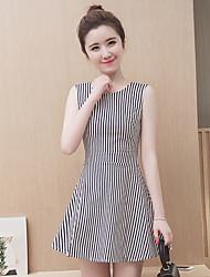 2016 лето новые корейские женщины с короткими рукавами печатных платье костюм юбка лето мода