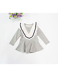 Girl's Casual/Daily Solid Dress Spring Fall Long Sleeve