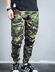 Homme Chinoiserie Taille Normale Micro-élastique Chino Pantalon,Sarouel Camouflage