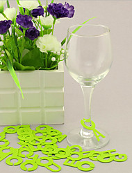 26Pcs Alphabet Silicone Wine Glasses Drinking Silica Gel Glass Markers Party Tools (Random Color)