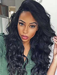 10-26 Inch 100% Human Virgin Hair Lace Wig Full Lace Body Wave Lace  Wig-glueless with Baby Hair