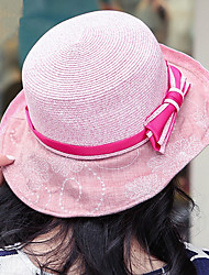 Sunscreen Sun hats for Women Bow Straw Hats Lady Cap