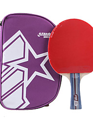 2 Stars Table Tennis Rackets Ping Pang Wood Long Handle Pimples Indoor Performance Practise Leisure Sports-#
