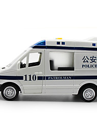 Police car Toys Car Toys 1:32 Metal Plastic White Blue Model & Building Toy