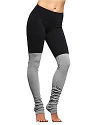 Mujer Pantalones de Running Transpirable Prendas de abajo para Yoga Ejercicio y Fitness Running Algodón Delgado Negro Fucsia Azul S M L XL