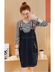 robe de bracelet en denim femme femmes de grande taille 200 livres automne fronde une jupe mot lâche coréen
