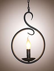 Подвесные лампы ,  Традиционный/классический Живопись Особенность for Свеча Стиль Металл Спальня Столовая Кабинет/Офис Прихожая Коридор