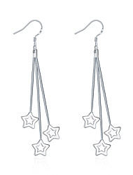 XU Women Fashion Star Silver Earrings