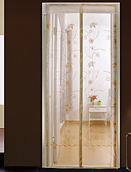 Square Embroidery Summer Anti Mosquito Door Curtain
