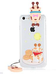 For Transparent Pattern Case Back Cover Case 3D Cartoon Hard PC for Apple iPhone 7 Plus  7  6s Plus 6 Plus  6s 6
