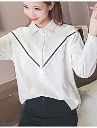 Sinal 2017 mulheres coreanas nova hitz era costura fina camisa de manga comprida solta