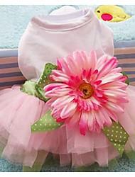 Chien Robe Vêtements pour Chien Mignon Décontracté / Quotidien Princesse Rose