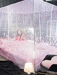 Dortoir princesse étudiant moustiquaires top carré acier inoxydable trois ouvrir la porte