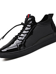 sapatilhas dos homens Primavera-Verão conforto de inverno queda pu ar livre atlético caminhada ocasional lace-up