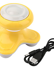 1Pcs Mini Electric Handled Wave Vibrating Massager Usb Battery Full Body Massage Color Random