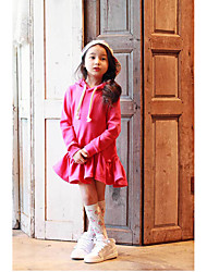Girl's Casual/Daily Solid Dress Spring Long Sleeve