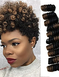 American Fashion Women HairStyle 10 inch Curlkalon Curls Ombre Kanekalon Curly Braiding Curlkalon Crochet SANIYA Curls 20roots/pack 5packs make head