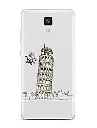 Pour Transparente Motif Coque Coque Arrière Coque Paysage Urbain Flexible PUT pour XiaomiXiaomi Mi 5 Xiaomi Mi 4 Xiaomi Mi 5s Xiaomi Mi