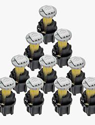 10 ensembles dc 12v 0.2W t5 conduit 5050SMD ampoule de tableau de bord tableau de bord porte jaune