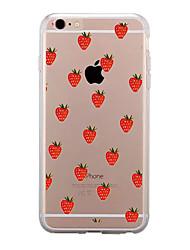 Pour Transparente Motif Coque Coque Arrière Coque Fruit Flexible PUT pour AppleiPhone 7 Plus iPhone 7 iPhone 6s Plus iPhone 6 Plus iPhone