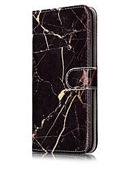 Pour Portefeuille Porte Carte Avec Support Clapet Motif Coque Coque Intégrale Coque Marbre Dur Cuir PU pour AppleiPhone 7 Plus iPhone 7