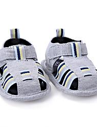 Kids' Sandals Summer First Walkers Fabric Outdoor Casual Flat Heel Hook & Loop