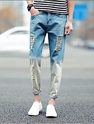 Herren Einfach Mittlere Hüfthöhe Micro-elastisch Jeans Skinny Hose Muster
