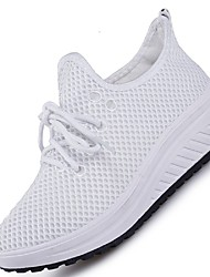 Women's Sneakers Spring Summer Comfort Light Soles Tulle Outdoor Athletic Casual Low Heel Running