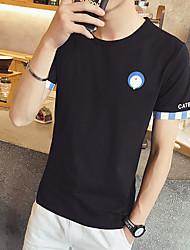 Sommer neue Männer&# 39; s Kurzarm T-Shirt die Farbe des T-Shirt Cuff Cafe