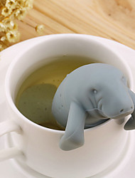 1 PC DIY10 * 10 silicone manatee tea strainer Fred Manatea lovely sea lions tea bags