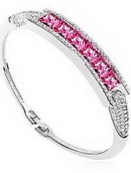 Mulheres Bracelete Jóias Amizade Moda Cristal Liga Forma Geométrica Dourado Vermelho Azul Jóias Para Aniversário 1peça