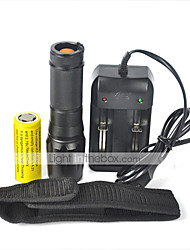 5 LED Flashlights/Torch LED 2000 Lumens 5 Mode Cree XM-L T6 Yes Impact Resistant Rechargeable Waterproof Strike Bezel Tactical Emergency