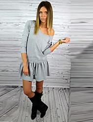 venta rápida a través de eBay ráfagas de otoño de siete mangas vestido de correa de los deportes de bolsillo sueltos sueltos