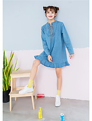 Sign new denim lace dress